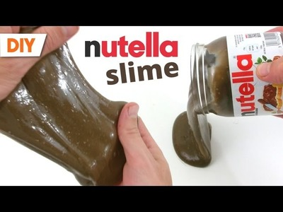 Mini pot de nutella slime - recipe nutella slime - tuto slime