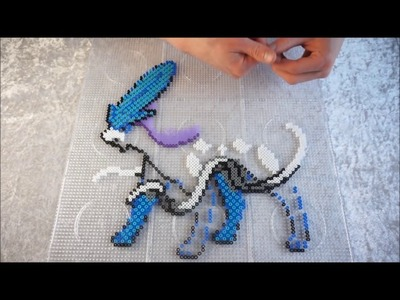 Pokémon SUICUNE - Hama Beads. Perler Beads