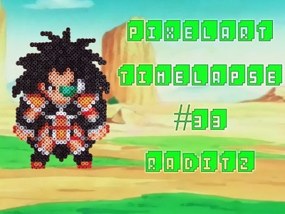 Timelapse Raditz 2.5mm Mini Hama Beads Dragon Ball Z