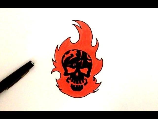 Dessin diablo t te de mort suicide squad - Tete de mort facile a dessiner ...