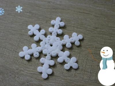 Tuto : Flocon en perles hama. Perler beads snowflake