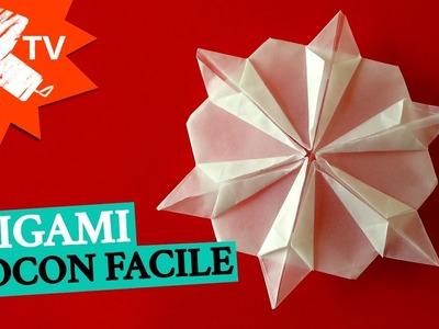 Flocon en papier - Origami facile