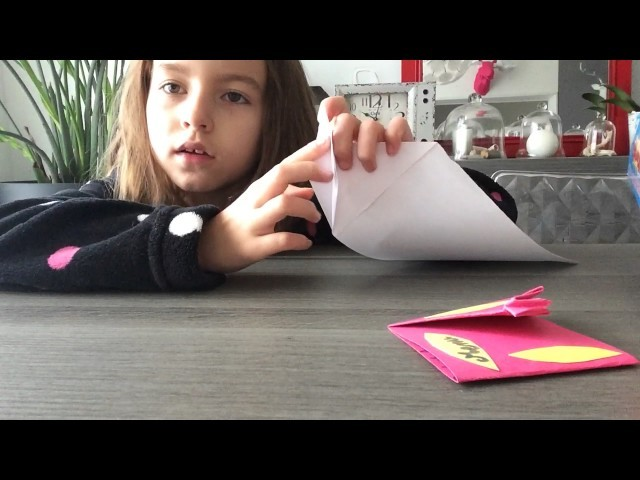 ORIGAMI-comment faire un oiseau menu en origami partie 1 -