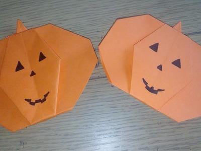 Origami facile : la citrouille d'Halloween (Pumpkin par Alexandre 6 ans)