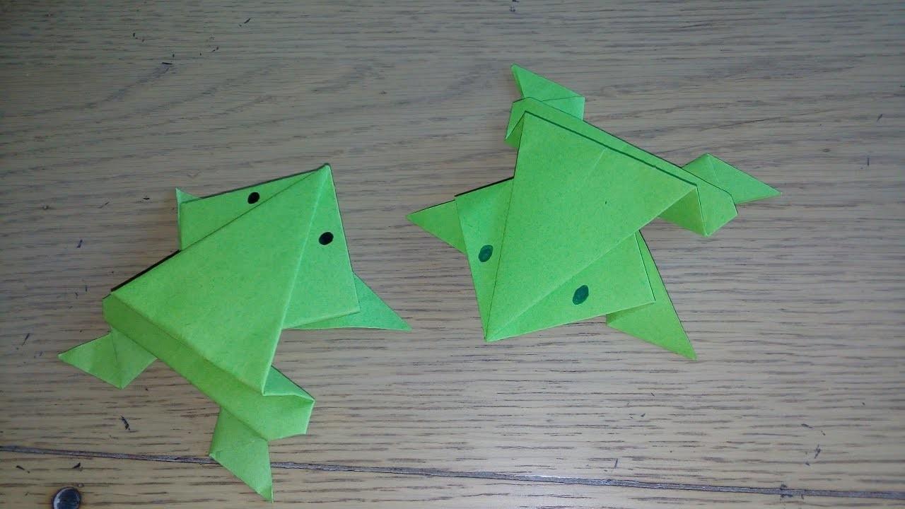 origami origami facile la grenouille qui saute the frog par alexandre 6 ans origami facile. Black Bedroom Furniture Sets. Home Design Ideas