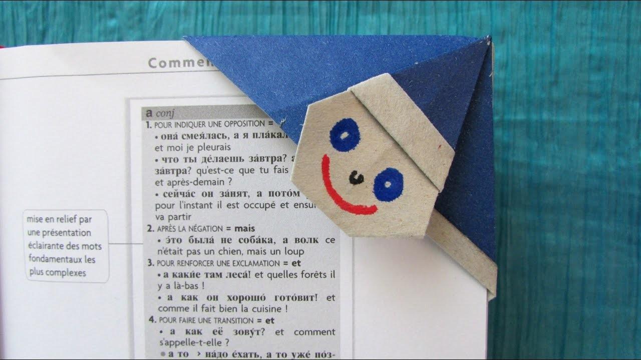 origami facile marque page clown. Black Bedroom Furniture Sets. Home Design Ideas
