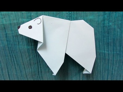 Origami facile : Ours blanc, ours polaire