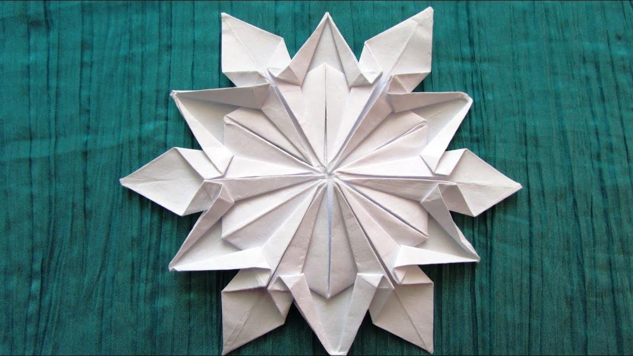 origami flocon de neige dennis walker. Black Bedroom Furniture Sets. Home Design Ideas