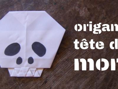 Origami tête de mort (facile)