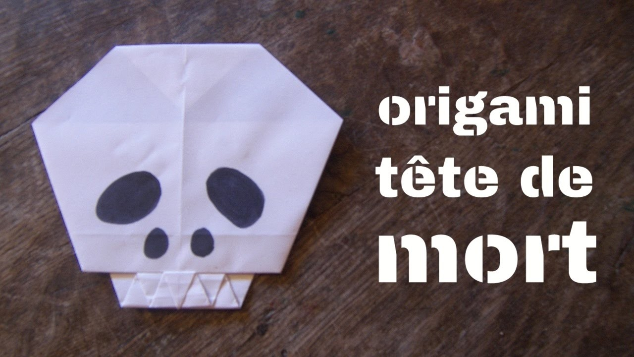 Tutoriel origami t te de mort facile origami facile lapin origami facile t te de lapin - Tete de mort facile ...
