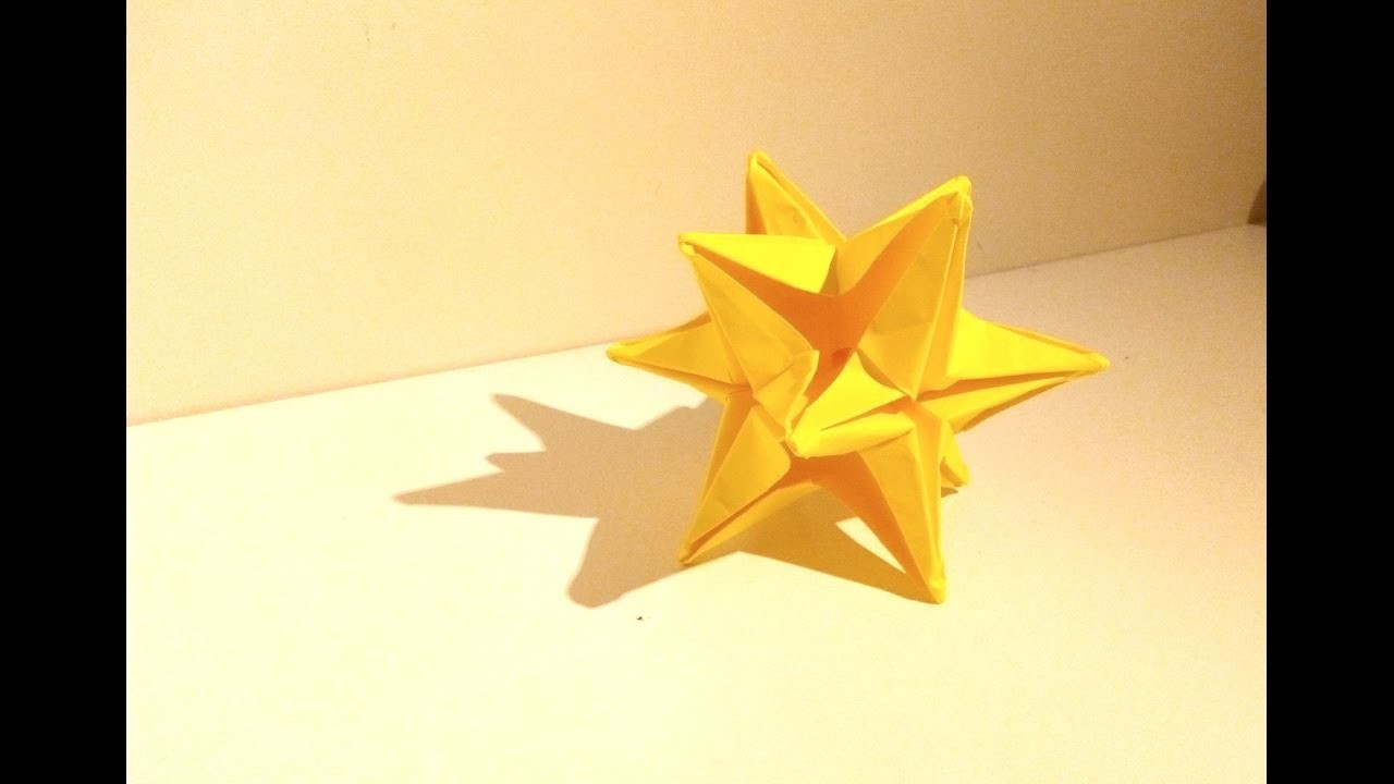 tutoriel origami facile ,comment faire une étoile oméga.