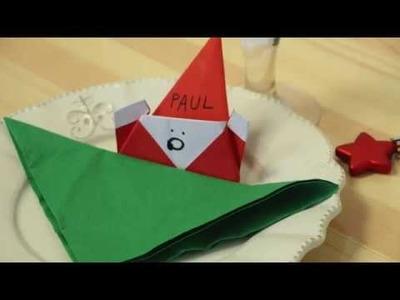 Maths Makers Père Noël en origami