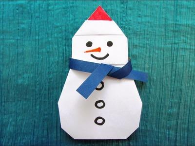 Origami : Bonhomme de neige