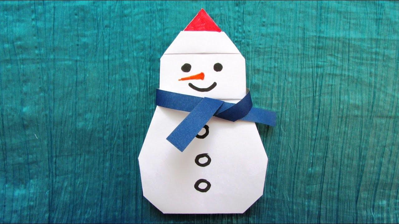 Origami bonhomme de neige - Bonhomme de neige en laine ...