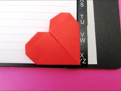 Origami : Cœur, marque-page