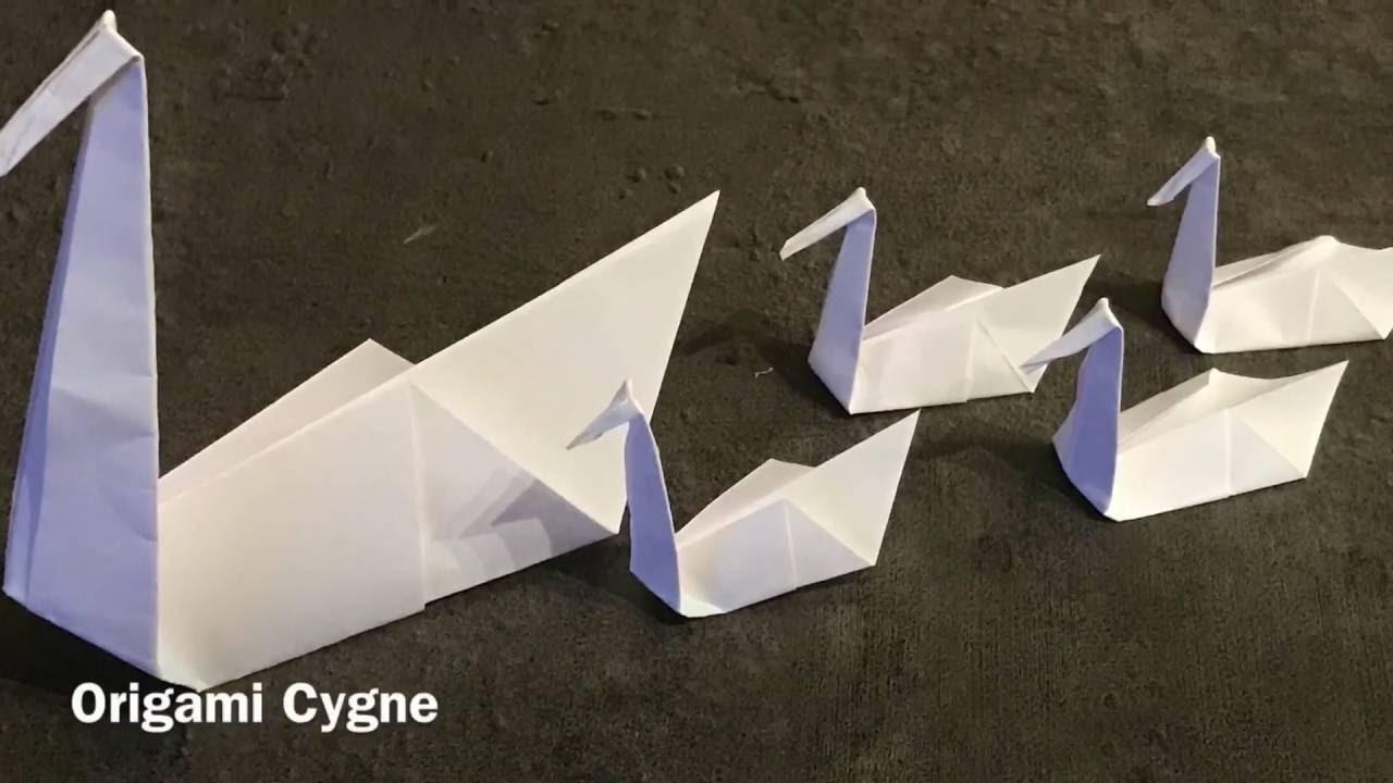 origami cygne facile swan easy. Black Bedroom Furniture Sets. Home Design Ideas