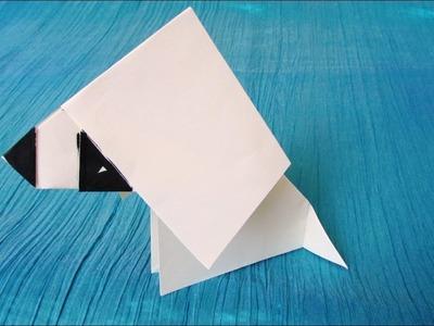 Origami facile : Chien qui balance la tête