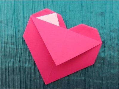 Origami facile : Cœur-pochette