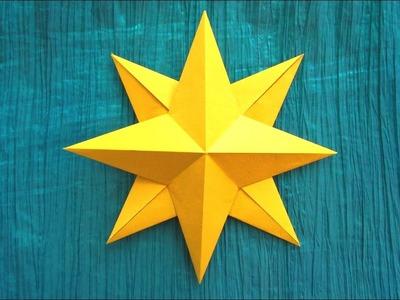 Origami facile : Étoile, Rose des vents