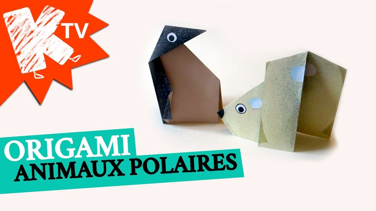 Origami facile les animaux polaires - Origami chat facile ...