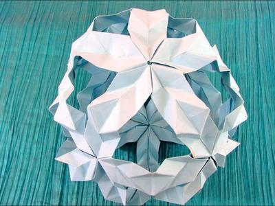 Origami modulaire-Kusudama : Hokkaido (Kankichi)