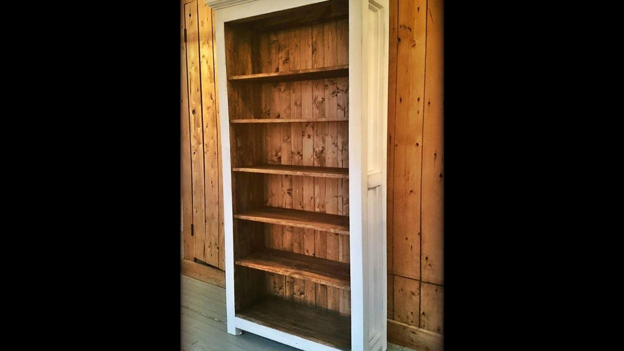 DIY Milk painted Bookshelf