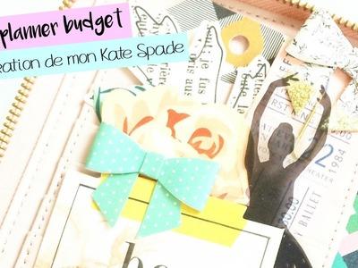 Mon planner budget - Décoration de mon planner Kate Spade (En collaboration avec la fée bricoleuse.)