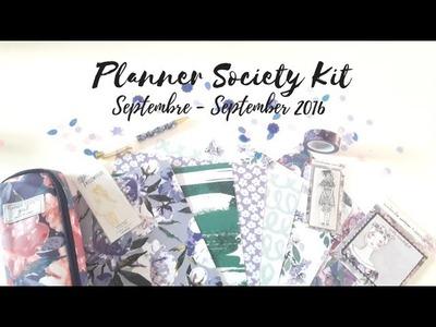 UNBOXING PLANNER SOCIETY KIT SEPTEMBRE - SEPTEMBER 2016