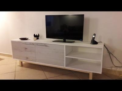 DIY Fabrication d'un meuble télé