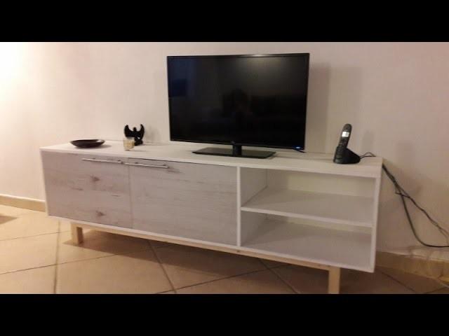 Diy fabrication dun meuble t l - Decirage d un meuble ...