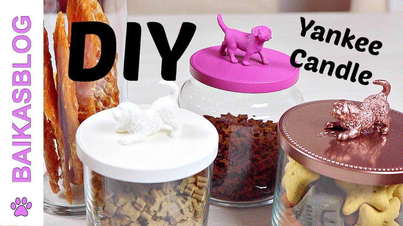 DIY Pots à friandises pour chien - Recyclage de Pots à Bougies Yankee Candle
