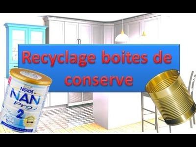 ❤️ DIY : Recyclage Pots de conserve ( boites de Lait Nan pour bébé) اعادة استعمال علب الحليب