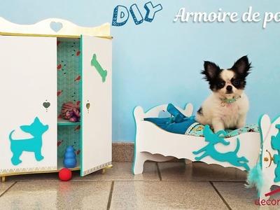 DIY - Tutoriel pour monter une petite armoire de poupée en bois, pour poupée ou petit chihuahua !