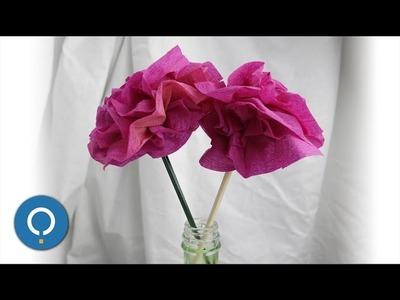 Fleur en papier crépon facile - DIY