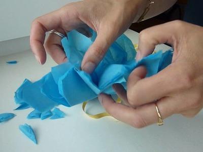 Pompon papier de soie - DIY