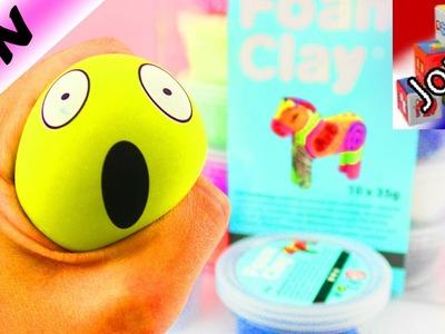 Balle anti-stress émoticône avec Silk Clay et Foam Clay | DIY faire soi-même