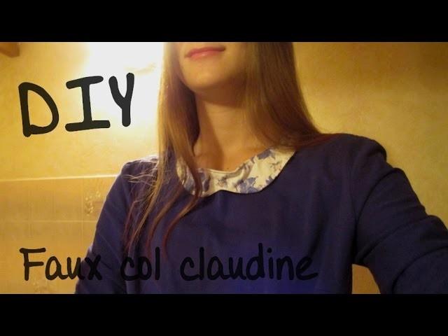 DIY || Customiser un tee shirt avec un faux col Claudine