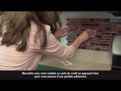 DIY - Poser du carrelage adhésif au mur STICKTILES
