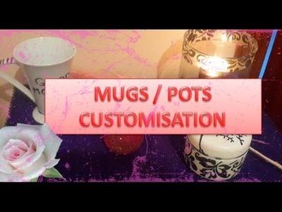 ❁ Fall DIY ❁ : Customiser Mugs et Pots facilement. تزيين الكؤوس و العلب بطريقة سهلة
