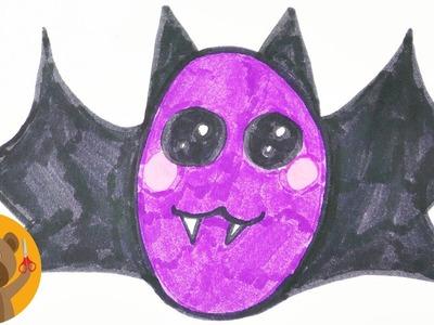 HALLOWEEN DIY Dessiner une chauve-souris | Adorable suceur de sang avec de grands yeux ronds