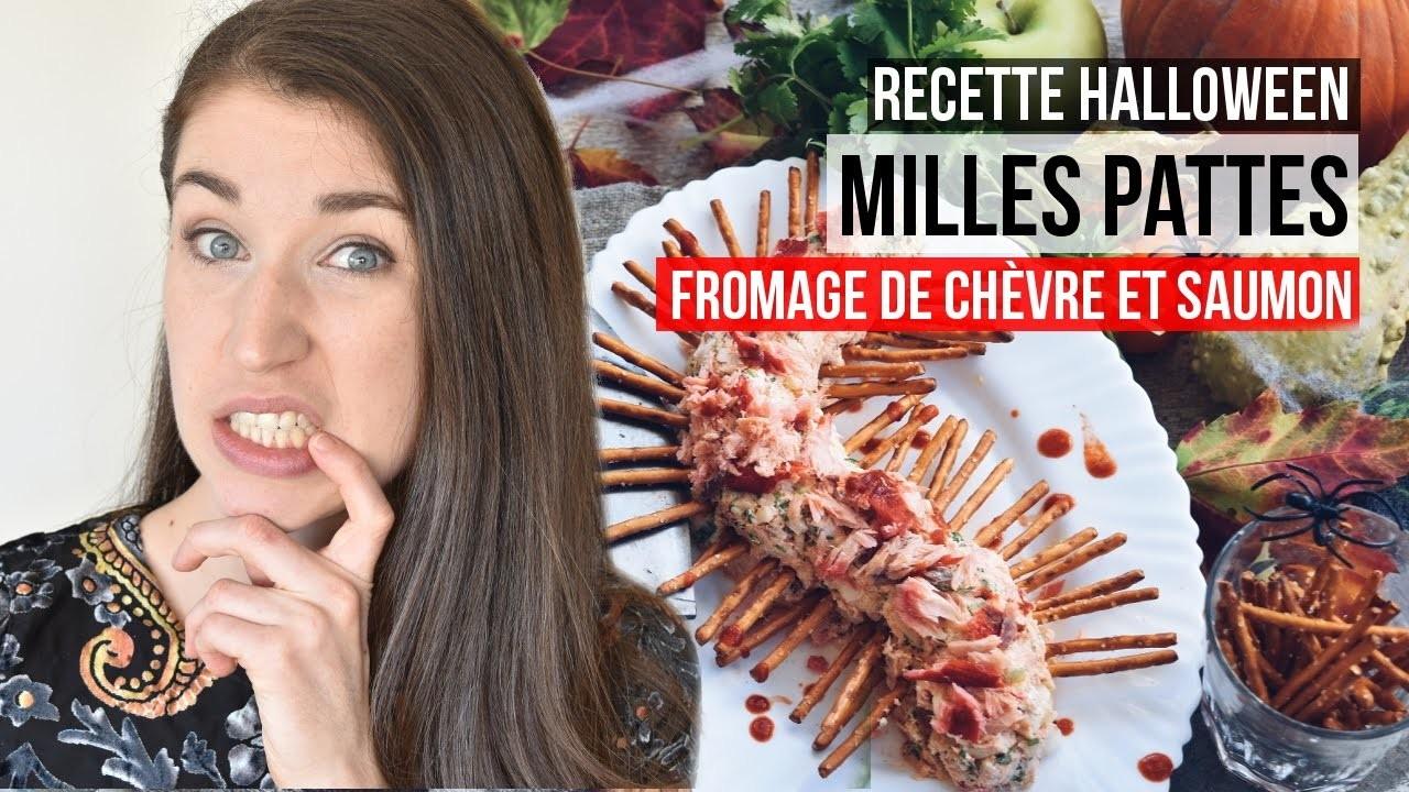 Bouchées d'Halloween - Milles pattes fromage et saumon | DIY RECETTE SANTÉ & FACILE POUR PARTY