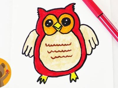 Dessiner une Chouette Kawaii DIY | Déco d'automne pour des cartes d'anniversaire ou des invitations