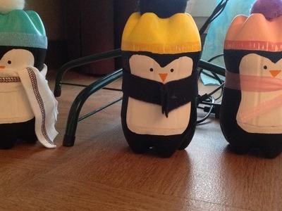 DIY de noël fabriquer des pingouins avec des bouteilles de coca
