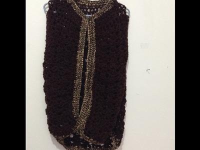Chaleco a crochet BIEN EXPLICADO