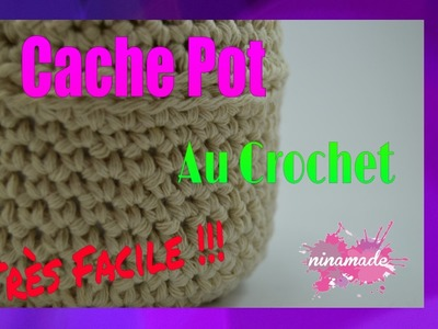 DIY. Cache Pot En Crochet.  Cover Pot In Crochet.