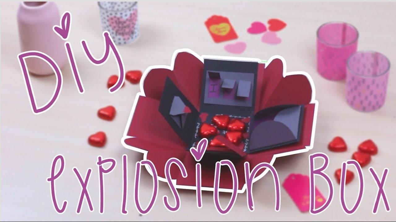Diy Explosion Box Facile Rapide Pour La Saint Valentin