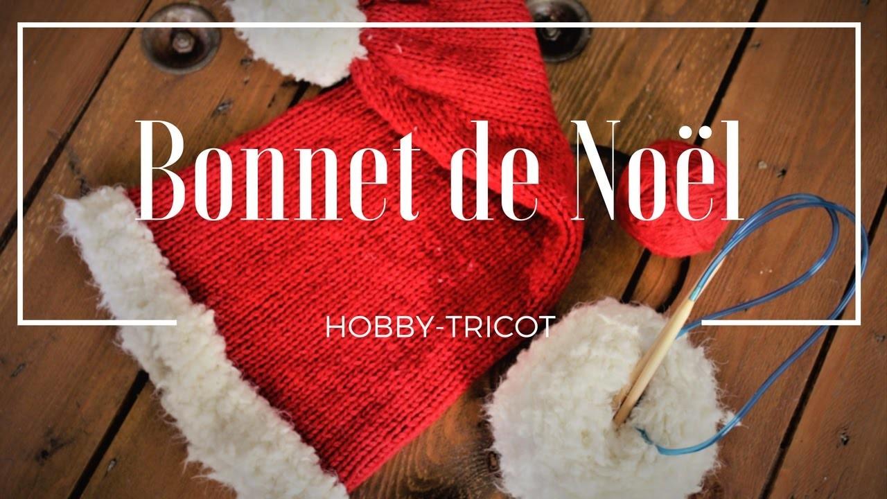 Tricot diy tricoter un bonnet de no l niveau debutant apprendre a tricoter diy la maille - Apprendre a tricoter debutant ...