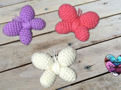 Papillons Amigurumi Crochet très facile. Butterfly crochet amigurumi DIY (english subtitles)