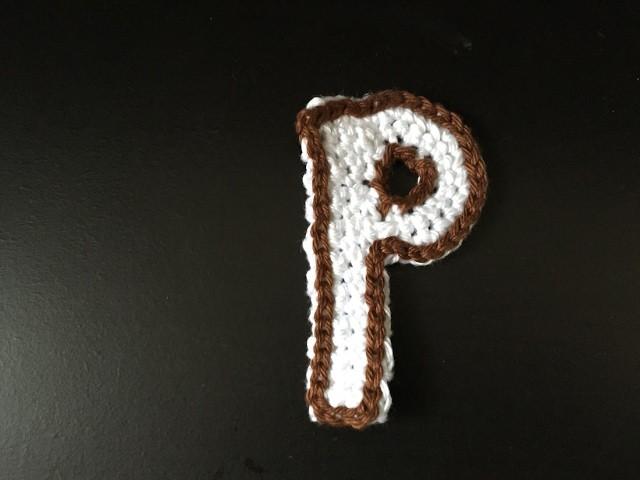 Tuto lettre P au crochet spécial gaucher