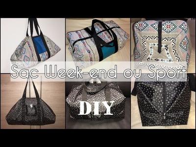 Coudre un Sac Week-end ou Sport - Tuto Couture DIY Facile